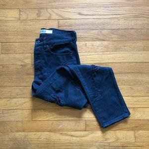 Brandy Melville black distressed boyfriend jeans